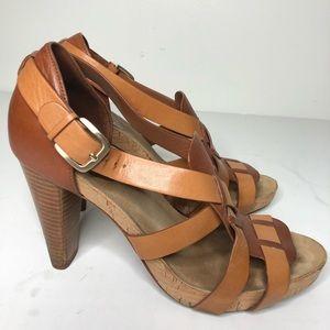 cole haan nike air Shoes - Cole Haan Nike Air High Heel brown tan sandal 8.5